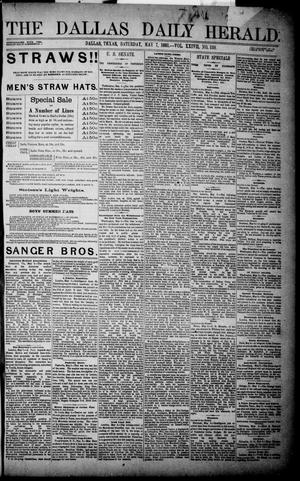 Primary view of object titled 'The Dallas Daily Herald. (Dallas, Tex.), Vol. XXIVII, No. 138, Ed. 1 Saturday, May 7, 1881'.