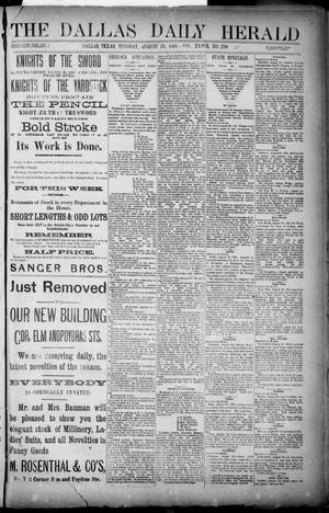 Primary view of object titled 'The Dallas Daily Herald. (Dallas, Tex.), Vol. XXIVII, No. 230, Ed. 1 Tuesday, August 23, 1881'.