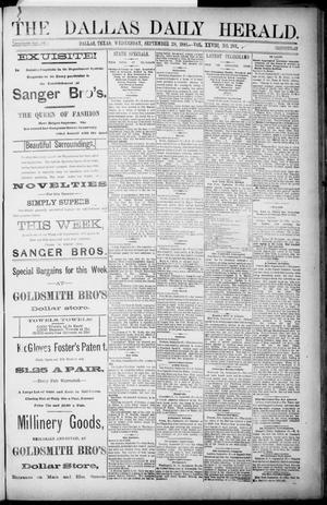Primary view of object titled 'The Dallas Daily Herald. (Dallas, Tex.), Vol. 28, No. 261, Ed. 1 Wednesday, September 28, 1881'.