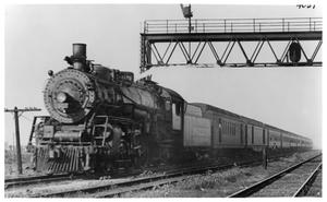 Primary view of object titled '[Santa Fe Train in Chicago]'.