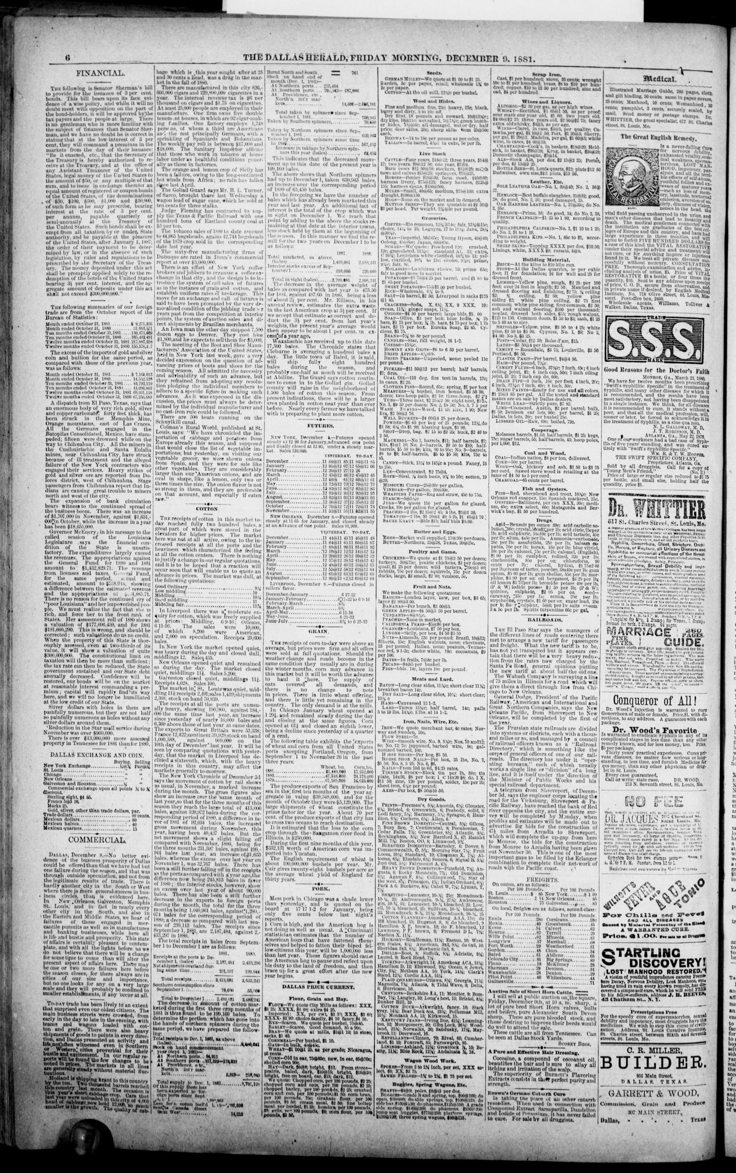 The Dallas Daily Herald  (Dallas, Tex ), Vol  29, No  9, Ed  1