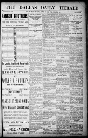 Primary view of object titled 'The Dallas Daily Herald. (Dallas, Tex.), Vol. 29, No. 122, Ed. 1 Thursday, April 20, 1882'.