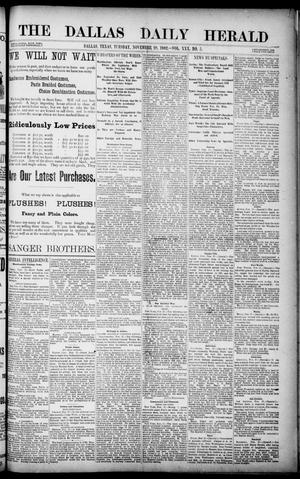 Primary view of object titled 'The Dallas Daily Herald. (Dallas, Tex.), Vol. 30, No. 5, Ed. 1 Tuesday, November 28, 1882'.