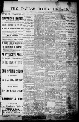 Primary view of object titled 'The Dallas Daily Herald. (Dallas, Tex.), Vol. 30, No. 90, Ed. 1 Tuesday, March 6, 1883'.
