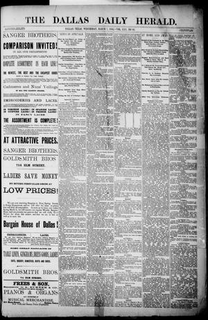 Primary view of object titled 'The Dallas Daily Herald. (Dallas, Tex.), Vol. 30, No. 91, Ed. 1 Wednesday, March 7, 1883'.