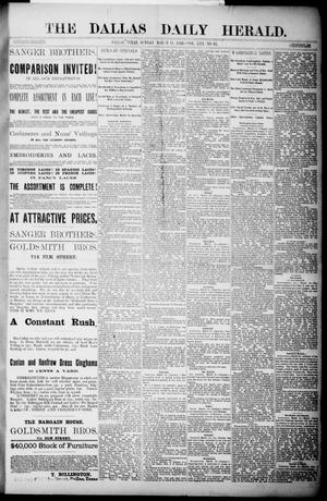 Primary view of object titled 'The Dallas Daily Herald. (Dallas, Tex.), Vol. 30, No. 95, Ed. 1 Sunday, March 11, 1883'.
