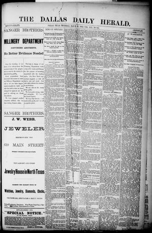Primary view of object titled 'The Dallas Daily Herald. (Dallas, Tex.), Vol. 30, No. 104, Ed. 1 Thursday, March 22, 1883'.