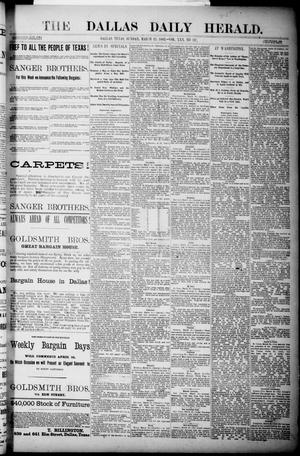 Primary view of object titled 'The Dallas Daily Herald. (Dallas, Tex.), Vol. 30, No. 107, Ed. 1 Sunday, March 25, 1883'.