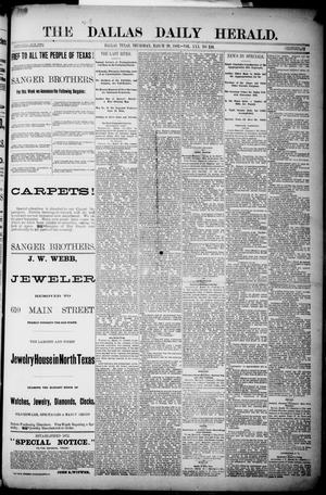 Primary view of object titled 'The Dallas Daily Herald. (Dallas, Tex.), Vol. 30, No. 110, Ed. 1 Thursday, March 29, 1883'.