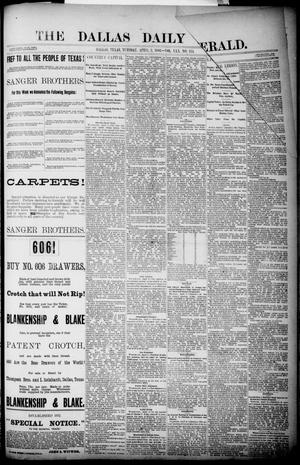 Primary view of object titled 'The Dallas Daily Herald. (Dallas, Tex.), Vol. 30, No. 114, Ed. 1 Tuesday, April 3, 1883'.
