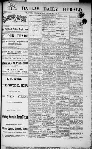 Primary view of object titled 'The Dallas Daily Herald. (Dallas, Tex.), Vol. 30, No. 128, Ed. 1 Thursday, April 19, 1883'.