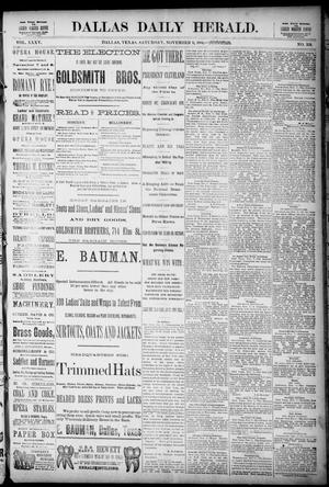 Primary view of The Dallas Daily Herald. (Dallas, Tex.), Vol. 35, No. 359, Ed. 1 Saturday, November 8, 1884