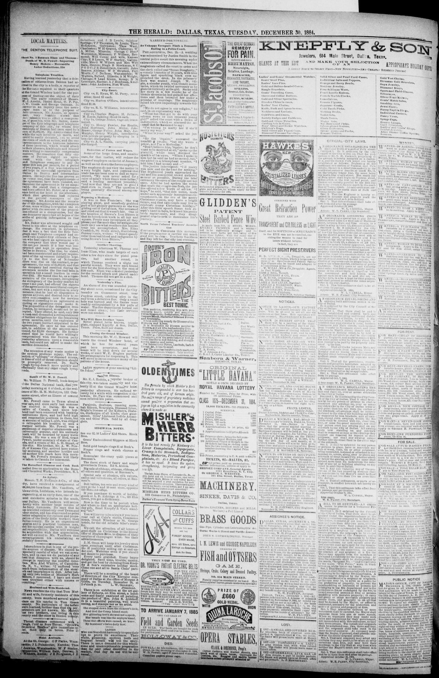 The Dallas Daily Herald  (Dallas, Tex ), Vol  36, No  46, Ed