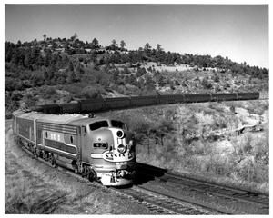 "Primary view of object titled '[""El Capitan"" climbs towards Raton Pass]'."