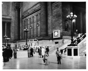 Primary view of object titled '[Main Waiting Room at Pennsylvania Station in New York]'.