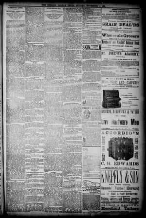 Primary view of object titled 'The Dallas Daily Herald. (Dallas, Tex.), Vol. 36, No. 361, Ed. 1 Sunday, November 1, 1885'.