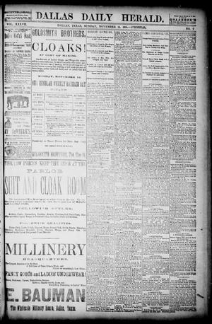 Primary view of object titled 'The Dallas Daily Herald. (Dallas, Tex.), Vol. 36, No. 9, Ed. 1 Sunday, November 15, 1885'.