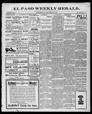 El Paso Weekly Herald. (El Paso, Tex.), Vol. 18, No. 4, Ed. 1 Saturday, January 22, 1898