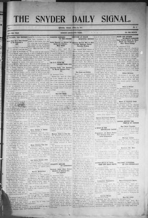 Snyder Daily Signal (Snyder, Tex.), Vol. 1, No. 9, Ed. 1 Wednesday, April 26, 1911