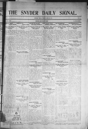 Snyder Daily Signal (Snyder, Tex.), Vol. 1, No. 11, Ed. 1 Friday, April 28, 1911