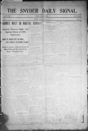 Snyder Daily Signal (Snyder, Tex.), Vol. 1, No. 20, Ed. 1 Tuesday, May 9, 1911