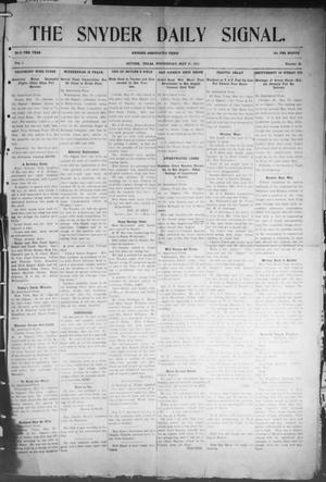 Snyder Daily Signal (Snyder, Tex.), Vol. 1, No. 39, Ed. 1 Wednesday, May 31, 1911