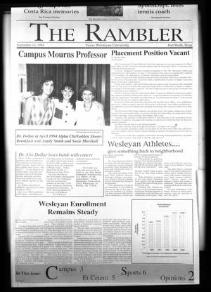 The Rambler (Fort Worth, Tex.), Vol. 71, No. 15, Ed. 1 Wednesday, September 14, 1994