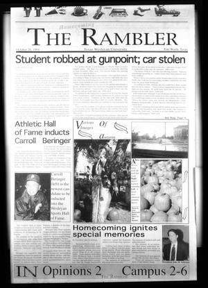 Primary view of object titled 'The Rambler (Fort Worth, Tex.), Ed. 1 Wednesday, October 26, 1994'.