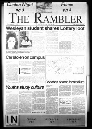 Primary view of object titled 'The Rambler (Fort Worth, Tex.), Ed. 1 Wednesday, February 8, 1995'.