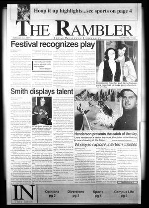 The Rambler (Fort Worth, Tex.), Ed. 1 Wednesday, February 22, 1995