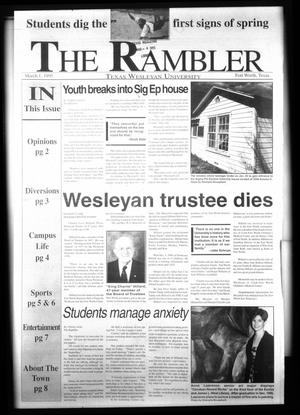 Primary view of object titled 'The Rambler (Fort Worth, Tex.), Ed. 1 Wednesday, March 1, 1995'.