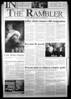The Rambler (Fort Worth, Tex.), Ed. 1 Wednesday, March 29, 1995