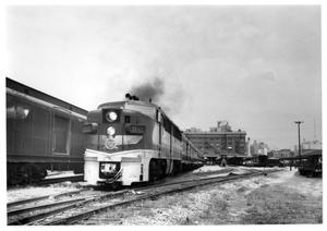 "Primary view of object titled '[""Valley Eagle"" departing from Houston]'."