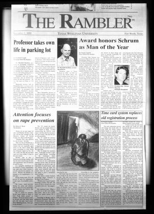 Primary view of object titled 'The Rambler (Fort Worth, Tex.), Ed. 1 Wednesday, November 1, 1995'.