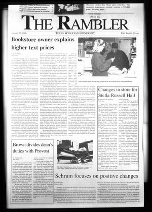 The Rambler (Fort Worth, Tex.), Ed. 1 Wednesday, January 31, 1996