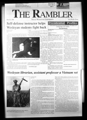 Primary view of object titled 'The Rambler (Fort Worth, Tex.), Ed. 1 Wednesday, March 6, 1996'.