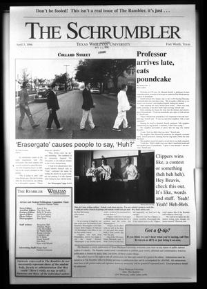 Primary view of object titled 'The Rambler (Fort Worth, Tex.), Ed. 1 Wednesday, April 3, 1996'.