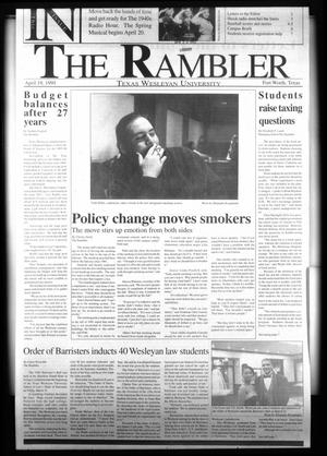 Primary view of object titled 'The Rambler (Fort Worth, Tex.), Ed. 1 Friday, April 5, 1996'.