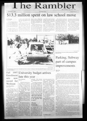 Primary view of object titled 'The Rambler (Fort Worth, Tex.), Vol. 80, No. 14, Ed. 1 Wednesday, September 17, 1997'.