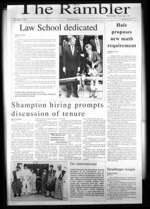 The Rambler (Fort Worth, Tex.), Vol. 80, No. 23, Ed. 1 Wednesday, November 19, 1997