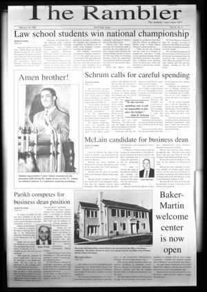 The Rambler (Fort Worth, Tex.), Vol. 81, No. 4, Ed. 1 Wednesday, February 18, 1998