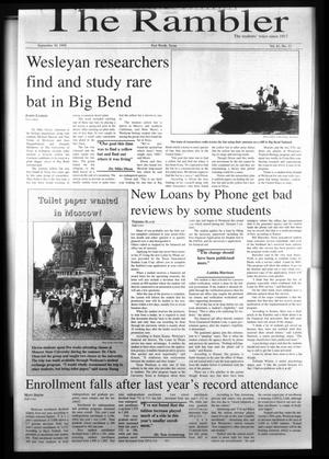 The Rambler (Fort Worth, Tex.), Vol. 81, No. 15, Ed. 1 Wednesday, September 30, 1998
