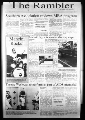 The Rambler (Fort Worth, Tex.), Vol. 81, No. 17, Ed. 1 Wednesday, October 14, 1998