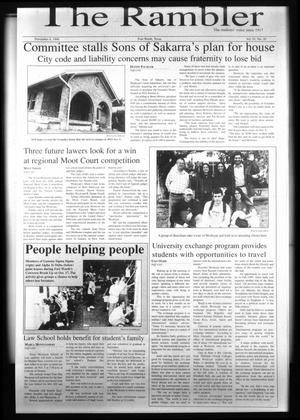 The Rambler (Fort Worth, Tex.), Vol. 81, No. 20, Ed. 1 Wednesday, November 4, 1998