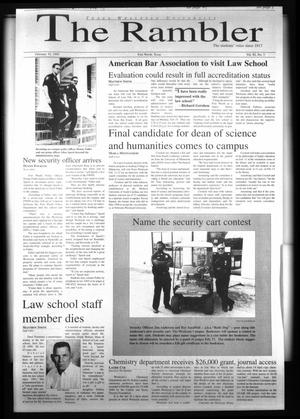 The Rambler (Fort Worth, Tex.), Vol. 82, No. 3, Ed. 1 Wednesday, February 10, 1999