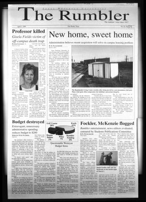 Primary view of object titled 'The Rambler (Fort Worth, Tex.), Vol. 82, No. 9, Ed. 1 Thursday, April 1, 1999'.