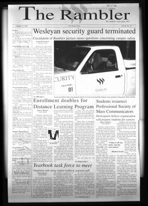 The Rambler (Fort Worth, Tex.), Vol. 82, No. 19, Ed. 1 Wednesday, October 27, 1999
