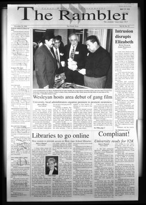 The Rambler (Fort Worth, Tex.), Vol. 82, No. 23, Ed. 1 Wednesday, November 24, 1999