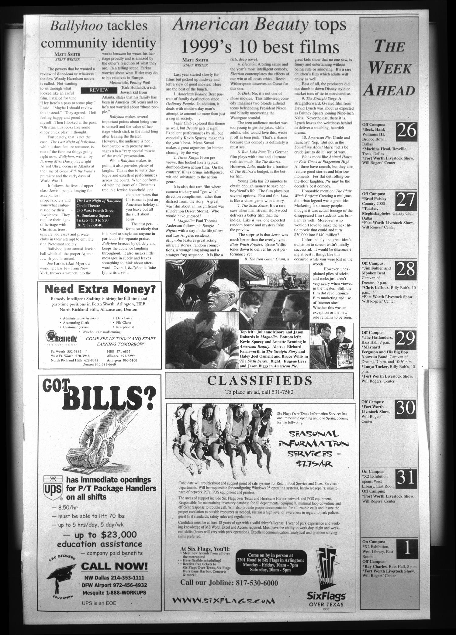 The Rambler (Fort Worth, Tex.), Vol. 83, No. 1, Ed. 1 Wednesday, January 26, 2000                                                                                                      [Sequence #]: 4 of 4