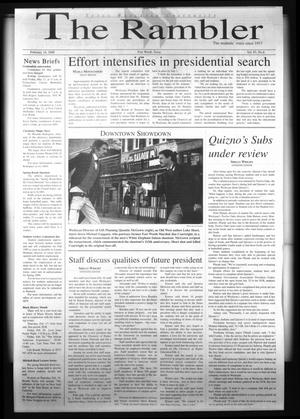 The Rambler (Fort Worth, Tex.), Vol. 83, No. 4, Ed. 1 Wednesday, February 16, 2000
